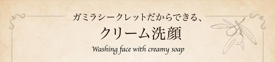 ガラミシークレットがだからできる、クリーム洗顔
